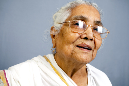 Cheerful Indian Senior Woman